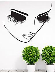 Недорогие -Декоративные наклейки на стены - Простые наклейки / Стикеры стикеров Words & Quotes Геометрия / Феи Гостиная / Спальня