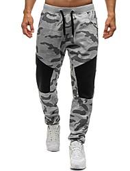 baratos -Homens Básico / Moda de Rua Chinos / Calças Esportivas Calças - Sólido Preto