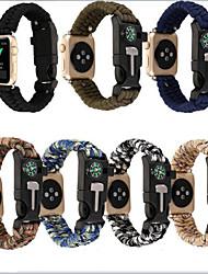 Недорогие -Ремешок для часов для Apple Watch Series 4/3/2/1 Apple Кожаный ремешок / Инструменты сделай-сам Нейлон Повязка на запястье