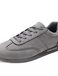 Недорогие -Муж. Свиная кожа Осень Удобная обувь Кеды Черный / Серый / Красный