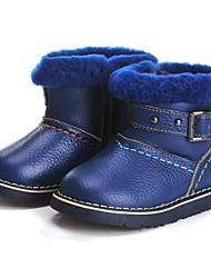 Недорогие -Мальчики Обувь Кожа Зима Зимние сапоги Ботинки С кисточками для Дети Красный / Светло-Зеленый / Тёмно-синий