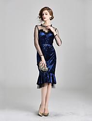 cheap -Women's Elegant Trumpet / Mermaid Dress Lace / Mesh