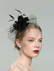 cheap -Feathers Fascinators with Net 1pc Wedding / Special Occasion Headpiece