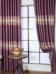 cheap -Curtains Drapes Living Room Contemporary Cotton / Polyester Printed