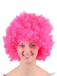 Недорогие -Парики из искусственных волос Маскарадные парики Кудрявый Стиль Стрижка боб Машинное плетение Парик Зеленый Желтый Черный Искусственные волосы 16 дюймовый Муж. Модный дизайн Косплей Горячая распродажа