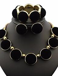 abordables -Femme Stylé byzantin Ensemble de bijoux - Résine Large, Original, Branché Comprendre Colliers Déclaration Boucles d'Oreille Bracelet Or Pour Soirée / Boucles d'oreille