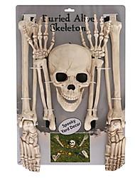 Недорогие -Праздничные украшения Украшения для Хэллоуина Хэллоуин Развлекательный Декоративная / Cool Белый 1шт