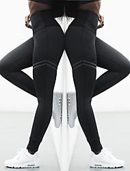 Недорогие -Жен. С высокой талией Штаны для йоги Сплошной цвет Черный Красный Синий Спандекс Zumba Фитнес Тренировка в тренажерном зале Велоспорт Колготки Спорт Спортивная одежда / Эластичность / Влагоотводящие