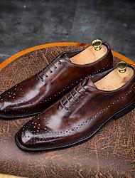 economico -Per uomo Bullock Shoes Pelle Primavera / Autunno Formale Oxfords Caffè / Marrone / Vino / Matrimonio / Serata e festa