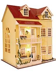 Недорогие -Кукольный домик Милый Своими руками утонченный Романтика Мебель деревянный Современный 1 pcs Детские Взрослые Девочки Игрушки Подарок