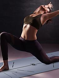 Недорогие -Коврик для йоги 183*68*0.5 cm Без запаха, Экологичные, Противоскользящий, Высокая плотность Натуральная резина Похудение, Потеря веса, Жиросжигатель, Строка позиции Для