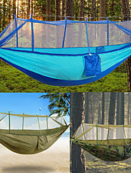 cheap -2 persons Camping Hammock with Mosquito Net Rope Bags Tie Wrap Padlock Moistureproof/Moisture Permeability Well-ventilated Ultra Light