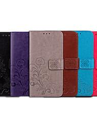 Недорогие -Кейс для Назначение Apple Кейс для iPhone 5 Бумажник для карт / Флип Чехол Однотонный / Мандала Мягкий Кожа PU для iPhone SE / 5s / iPhone 5