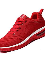 abordables -Homme Maille / Tissu élastique Automne Confort Chaussures d'Athlétisme Course à Pied Noir / Gris / Rouge