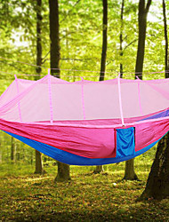 cheap -Camping Hammock with Mosquito Net Outdoor Lightweight, Portable, Anti-Mosquito Nylon for Camping / Hiking / Travel / Outdoor Fuchsia