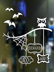 Недорогие -Оконная пленка и наклейки Украшение Фольклорный стиль / Хэллоуин Персонажи ПВХ Стикер на окна / Магазин / Кафе