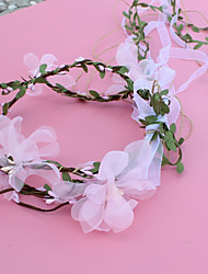 baratos -Organza Decoração de Cabelo com Floral 1pç Casamento / Ao ar livre Capacete