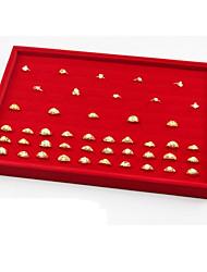 Недорогие -Место хранения организация Ювелирная коллекция Смешанные материалы Квадратная Открытая крышка