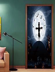 Недорогие -Дверные наклейки - 3D наклейки / Праздник стены стикеры Животные / Halloween Гостиная / Спальня