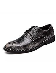 billige -Herre Pæne sko Syntetisk læder Forår / Efterår Vintage Oxfords Gradient Sort / Rød / Lysebrun / Fest / aften