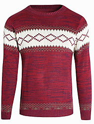 cheap -Men's Basic Pullover - Geometric