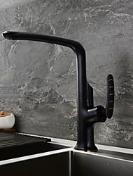 baratos Torneiras Cozinha-Torneira de Cozinha Bronze Polido a Óleo bico padrão Conjunto Central