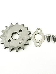 baratos -modificado 420-15t-17mm frente da roda dentada 17mm eixo 15 dente para lifan 125cc motor pit bike sujeira