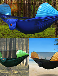 cheap -Camping Hammock with Mosquito Net Outdoor Rain-Proof, Breathability Nylon for Hiking / Camping - 2 person Orange / Dark Blue / Dark Green