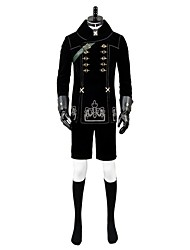 cheap -Inspired by NieR:Automata 9S Anime Cosplay Costumes Cosplay Suits Anime Long Sleeve 1 Necklace / Coat / Pants For Unisex Halloween Costumes