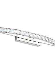 Недорогие -70 см современный 18-ватный туалетный свет водить светодиодный кристалл составляют зеркало свет ac100-240v освещение спальни