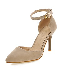 Недорогие -ador® womens d'orsay& замшевая пружина из двух частей&  каблук осень минимализм стилет каблук остроконечный пряжка черный / бежевый / вино / свадьба / вечеринка& вечер