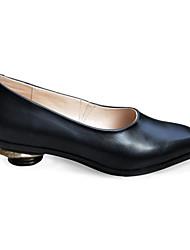 preiswerte -Damen Schuhe Leder Herbst Pumps High Heels Heterotypische Ferse Schwarz / Grau