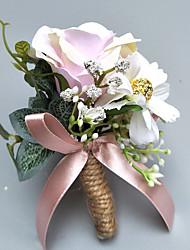 "baratos -Bouquets de Noiva Alfinetes de Lapela / Buquê de Pulso Casamento / Festa Poliéster 2.76""(Aprox.7cm)"