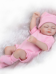 cheap -Reborn Doll Baby Girl 10 inch Silicone Kid's Unisex Gift