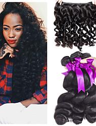 tanie -3 zestawy Włosy peruwiańskie Luźne fale 8A Włosy naturalne Doczepy z naturalnych włosów 8-24 in Ludzkie włosy wyplata Najwyższa jakość Nowości Gorąca wyprzedaż Ludzkich włosów rozszerzeniach Damskie