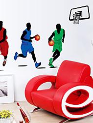 baratos -Autocolantes de Parede Decorativos - Adesivos de parede de pessoas Paisagem Sala de Estar / Quarto / Banheiro