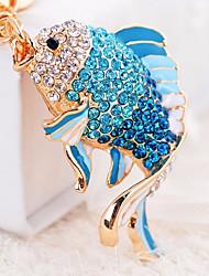 abordables -Poissons Porte-clés Bleu / Rose Irrégulier, Animal Zircon, Alliage Coque ornée de Diamant / Strass, Mode Pour Quotidien / Rendez-vous