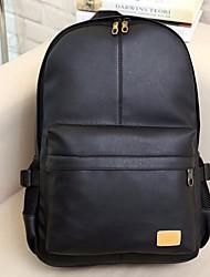 Недорогие -Муж. Мешки PU рюкзак Молнии Коричневый / Черный
