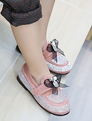 cheap -Girls' Shoes PU(Polyurethane) Spring &  Fall / Spring Ballerina Sneakers Walking Shoes Rhinestone / Flower / Braided Strap for Kids Gray / Pink / Light Brown / Color Block