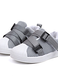 cheap -Girls' Shoes Mesh Fall & Winter Comfort Sneakers Walking Shoes Buckle for Teenager Black / Gray / Pink