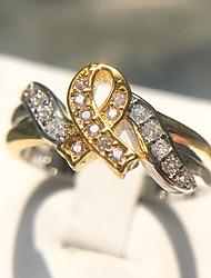 abordables -Femme Classique Stylé Bague - Platiné, Imitation Diamant Cancer, Espérer Original, Mode 6 / 7 / 8 / 9 / 10 Arc-en-ciel Pour Quotidien Formel