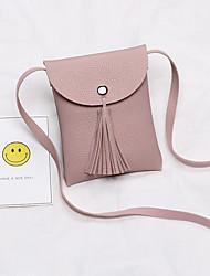 Недорогие -Жен. Мешки PU Мобильный телефон сумка С кисточками Серый / Миндальный / Кофейный