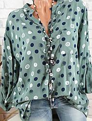 Недорогие -Жен. На выход Рубашка Воротник-стойка Свободный силуэт Классический Горошек / Сексуальные платья
