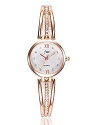 baratos -Mulheres Relógio Elegante / Relógio de Pulso Chinês Relógio Casual / imitação de diamante Lega Banda Casual / Fashion Prata / Ouro Rose