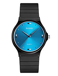 cheap -SKMEI Men's Women's Dress Watch Wrist Watch Quartz 30 m Water Resistant / Water Proof PU Band Analog Casual Fashion Black - Silver Blue Golden One Year Battery Life