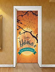 abordables -Pegatinas de puerta - Pegatinas de pared de animales / Holiday pegatinas de pared Formas / Halloween Interior / Habitación de Niños