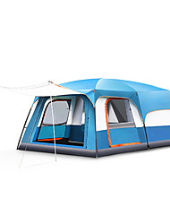 Недорогие -TANXIANZHE® 10 человек на открытом воздухе Семейный кемпинг-палатка С защитой от ветра Дожденепроницаемый Воздухопроницаемость Устойчивость к УФ Карниза Трехкомнатная Двухслойные зонты 2000-3000 mm