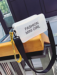 baratos -Mulheres Bolsas PVC Bolsa de Ombro Estampa Geométrica Branco / Roxo