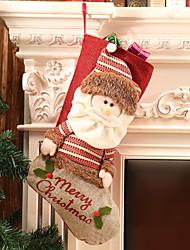 abordables -Navidad Dibujos Algodón Cuadrado Dibujos animados / Novedades Decoración navideña