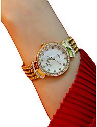 baratos -Mulheres Relógio de Pulso Cronógrafo / Luminoso / Adorável Lega Banda Rígida / Elegante Prata / Dourada